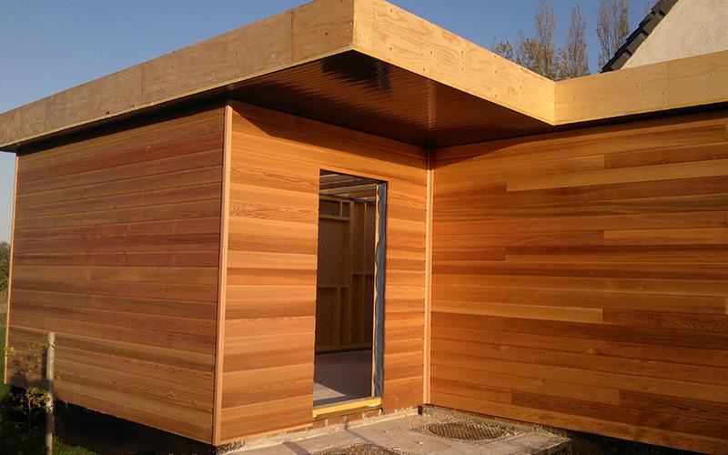 extension ossature bois red cedar bruay la buissi re alternative bois concept. Black Bedroom Furniture Sets. Home Design Ideas