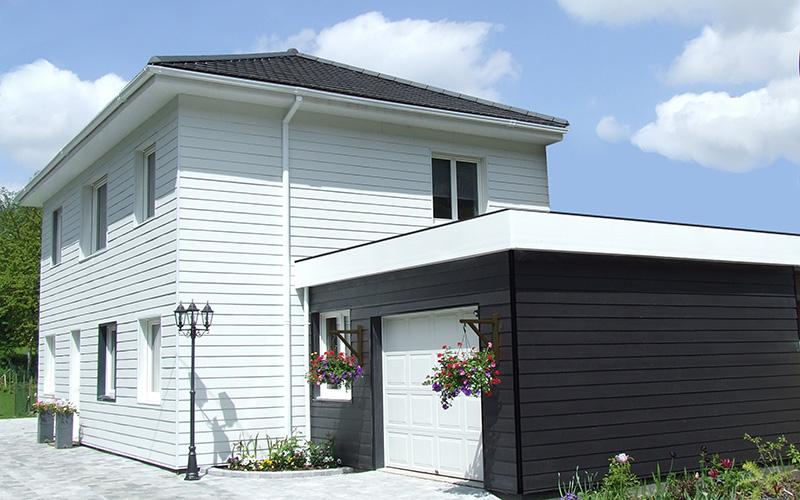 Maison ossature bois bethune bardage composite for Bardage maison composite