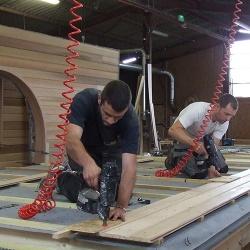 Construction de mur en ossature bois