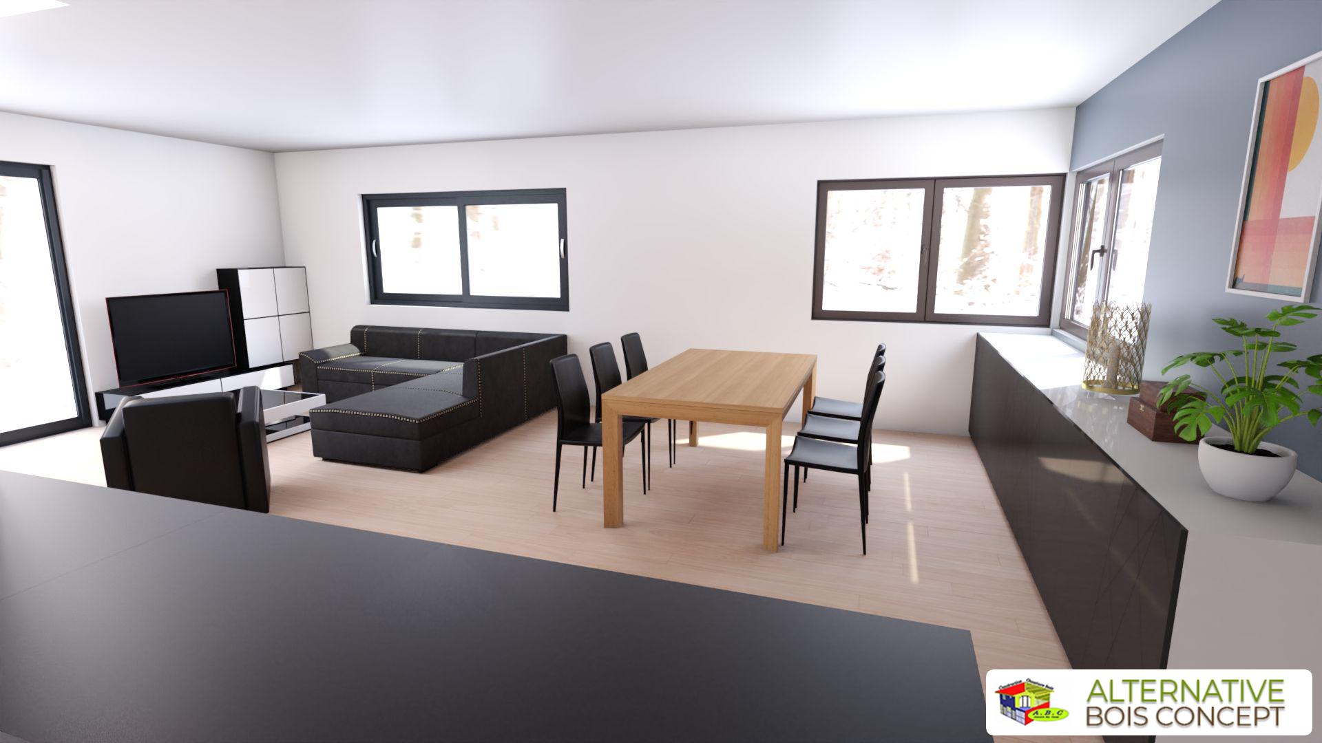 Salle à manger maison Bio-climatique