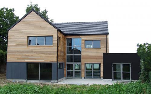 maison ossature bois d#039;architecte courrière