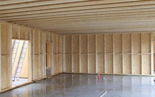 mur ossature bois et plancher